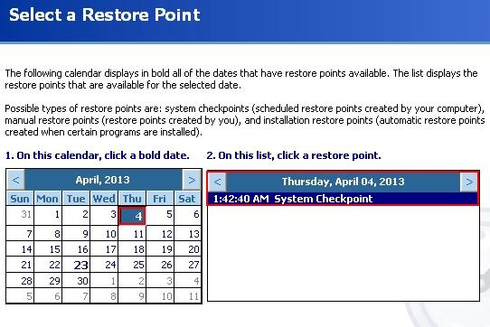 Restore Point