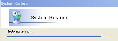 Restoring settings
