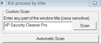 Kill XP Security Cleaner Pro