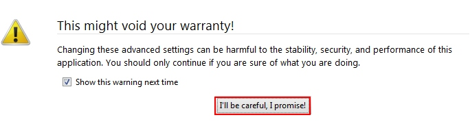 I will be careful I promise