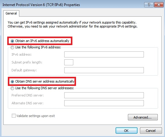 Obtain DNS automatically
