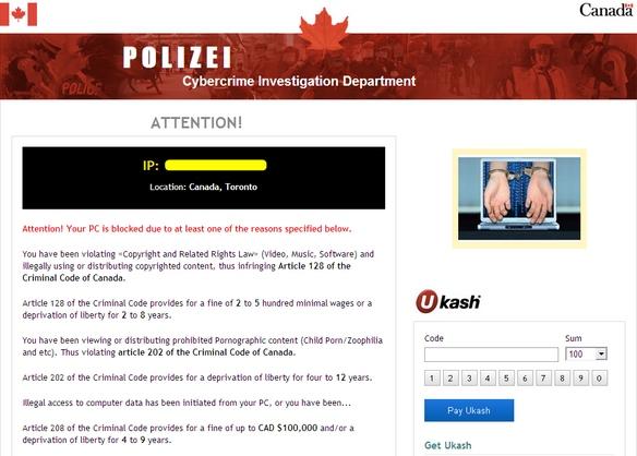 Polizei Cybercrime Investigation Department Canada