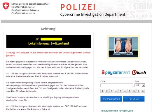 Polizei Cybercrime Investigation Department Switzerland