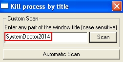KIll SystemDoctor2014 process