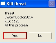 KIll SystemDoctor2014 threat confirmation