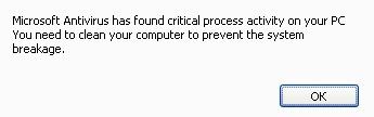 Microsoft Antivirus alert