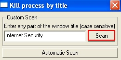 Type-in virus name