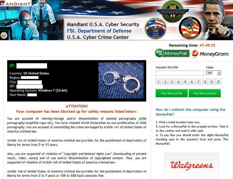 Mandiant U.S.A. Cyber Security ransomware