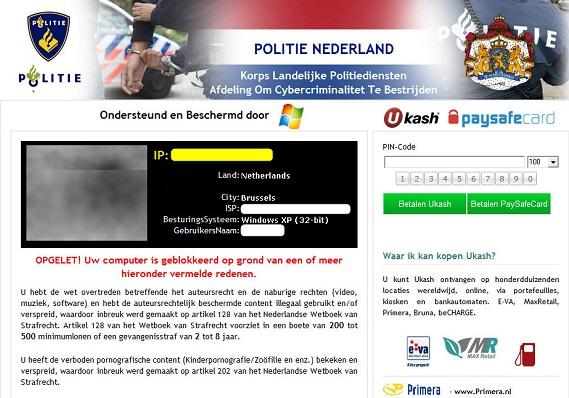 Politie Nederland virus