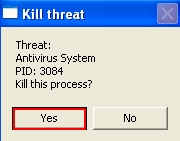 Kill Antivirus System scam