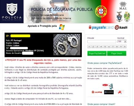 Polícia de Segurança Pública ransomware