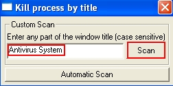 Scan for Antivirus System rogue