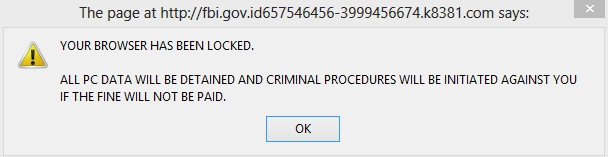 Your browser has been blocked warning