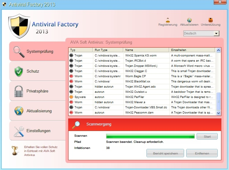 Antiviral Factory 2013 screenshot