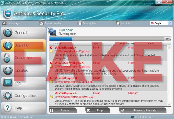 Antivirus Security Pro rogue