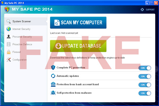 My Safe PC 2014 virus