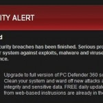PC Defender 360 Security Alert