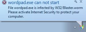 W32/Blaster.worm virus