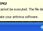 Warning! Application cannot be executed!