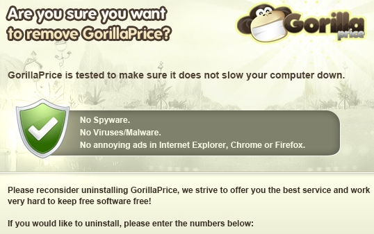 GorillaPrice adware