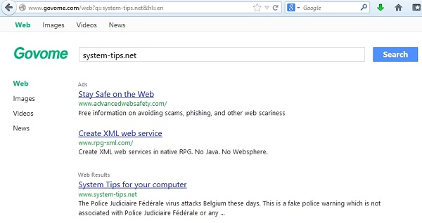 Govome.com browser hijacker (removal instructions)