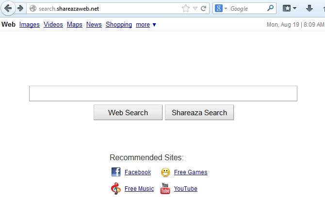 Shareazaweb search screenshot
