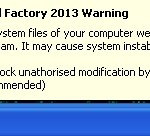Antiviral Factory 2013 warning