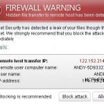 Internet Security Firewall Warning