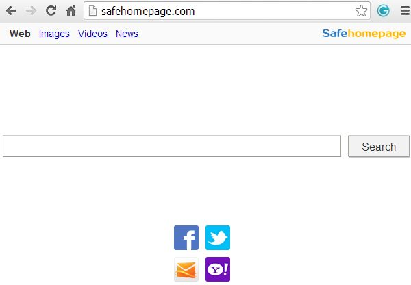 Safehomepage.com hijacker