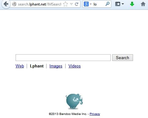Search.lphant.net screenshot