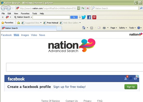 Search.nation.com browser hijacker
