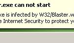 W32/Blaster.worm scam