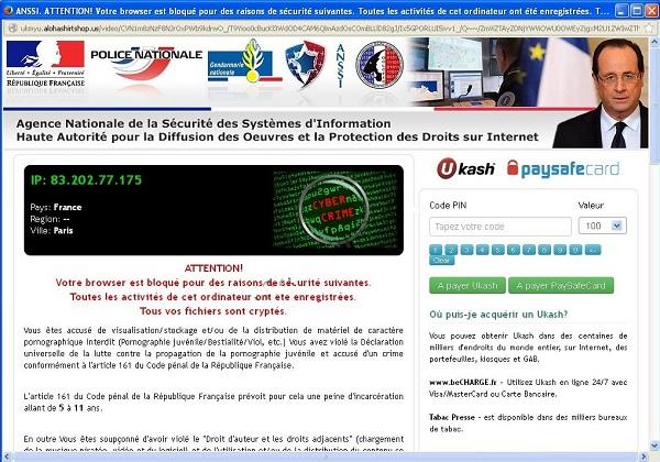 Votre browser est bloqué pour des raisons de sécurité suivantes