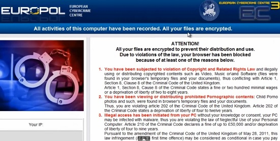 Europol European Cybercrime Center virus