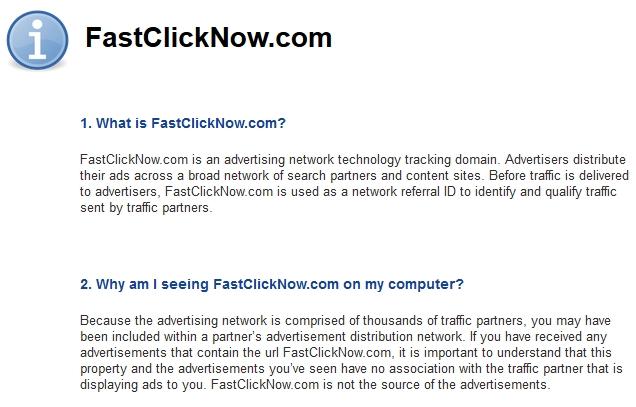 FastClickNow.com popup ads