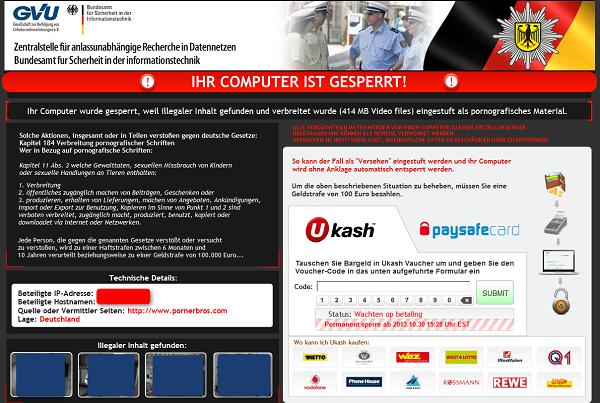 GVU Ihr computer ist gesperrt