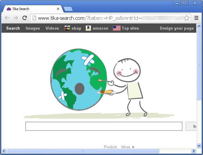 Tika-search.com browser hijacker