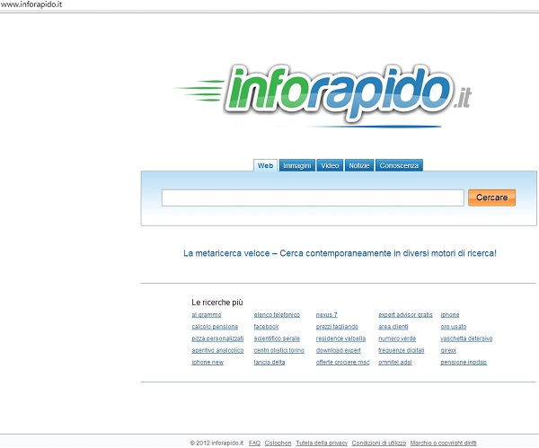 www.inforapido.it browser hijacker