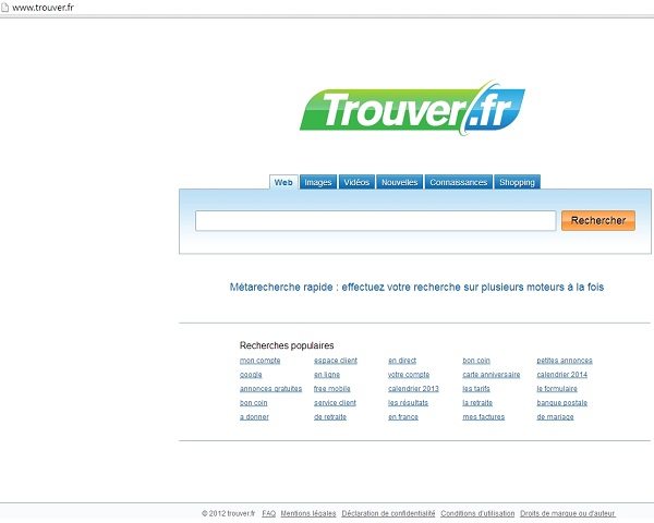 Trouver.fr browser hijacker