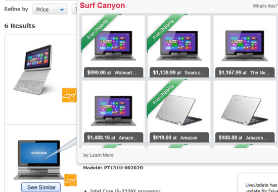 Surf Canyon adware