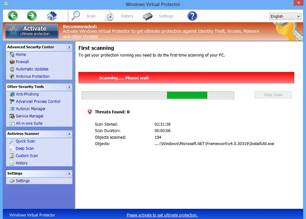 Windows Virtual Protector fake AV