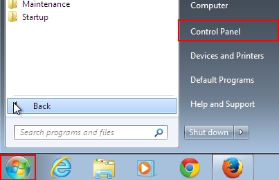 Start - Control Panel