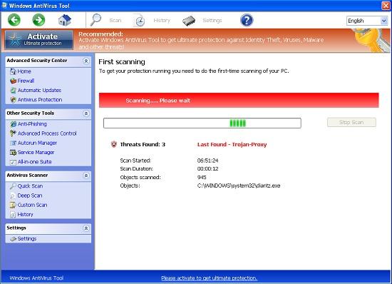Windows Antivirus Tool malware