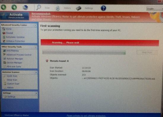 Windows Efficiency Master virus