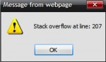 Stack overflow at line: 207 pop-up