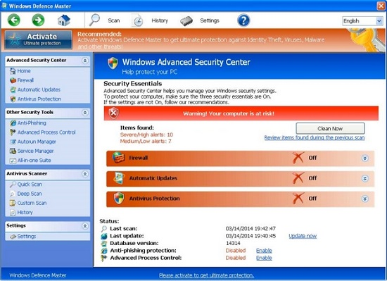 Windows Defence Master virus