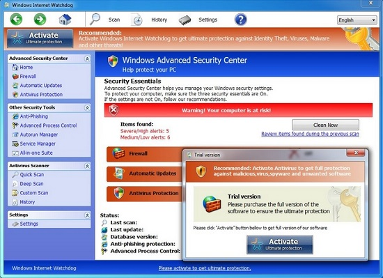 Windows Internet Watchdog virus