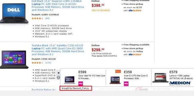 Discount_Frenzy ads (adware screenshot)