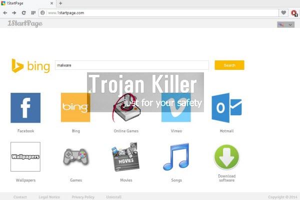 1StartPage browser hijacker