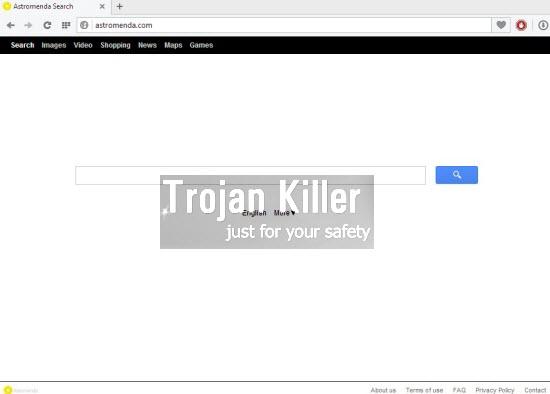 Astromenda Search browser hijacker